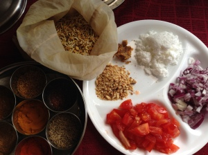 Ingredients for Sprouted Methi Usal